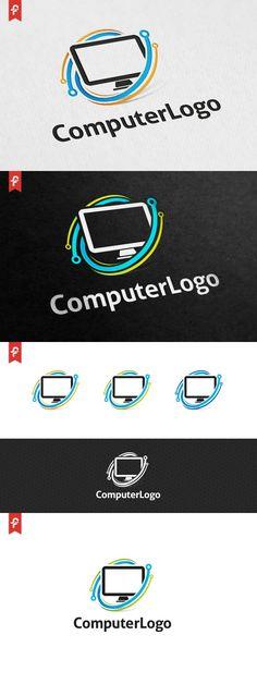 Computer Logo. Logo Templates. $29.00
