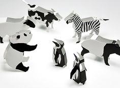 Black and white animal