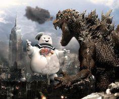 Marshmallow Man vs. Godzilla   Shared by Laith Faouri.