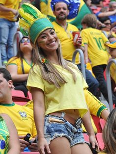 Rather than watching the ball, all eyes were on this Brazilian stunner during the Brazil vs. Cameroon match on June 23, 2014.