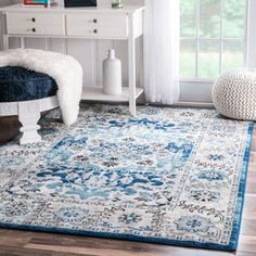 Shop for nuLOOM Traditional Persian Fancy Aqua Area Rug (8' x 10'). Get free shipping at Overstock.com - Your Online Home Decor Outlet Store! Get 5% in rewards with Club O!