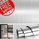 Stainless Steel Silver Contact Paper Vinyl Self Adhesive Film Kitchen Countertop for sale online Paintable Wallpaper, Silver Wallpaper, Textured Wallpaper, Wallpaper For Sale, Cool Wallpaper, Old Refrigerator, Vinyl Paper, Wall Stickers Home Decor