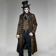 Welcome to the World of Steampunk Imagine a high-tech world where the machines were powered by steam and clockwork mechanisms replaced electronics. Costume Steampunk, Mode Steampunk, Style Steampunk, Victorian Steampunk, Victorian Fashion, Gothic Fashion, Vintage Fashion, Steampunk Fashion Men, Steampunk Halloween