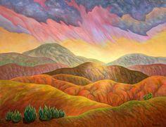 Nancy Monsman, Tucson cellist and painter, Desert-Rain