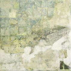 30 Blue Square by Sam Lock  Mixed Media on Board  31 x 31cm