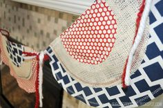I'm not crazy about most patriotic decor, but I do rather like this 4th of July banner!