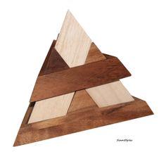 14 pieces pyramid Luxor pyramid wooden game puzzle von SiamStyles, $24.90
