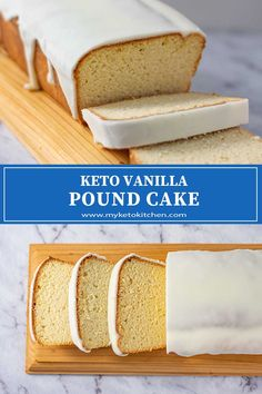 This easy gluten free cake recipe is perfect for dessert, morning or afternoon tea. It's buttery and soft with a smooth glaze. Low Carb Desserts, Low Carb Recipes, Baking Recipes, Dessert Recipes, Diabetic Desserts, Flour Recipes, Vanilla Pound Cake Recipe, Pound Cake Recipes, Vanilla Cake