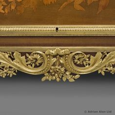 A Very Fine Louis XVI Style Gilt-Bronze Mounted Marquetry Commode
