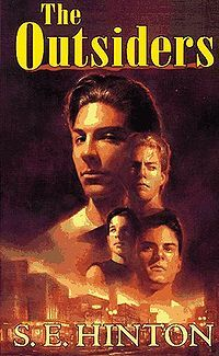 """The Outsiders. facts: SE Hinton is a girl. She wrote the book when she was The story takes place in Tulsa, even though it's about gangs in a big city. SE Hinton makes a cameo in """"The Outsiders"""" movie as the nurse. """"Do it for Johnny! Ya Books, I Love Books, Great Books, Books To Read, Love Reading, Reading Lists, Reading Strategies, Reading Activities, Reading Nook"""