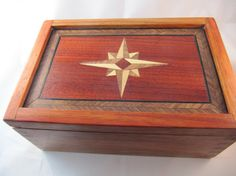 Wood Marquetry Box Compass by WearyWoodshop on Etsy, $60.00