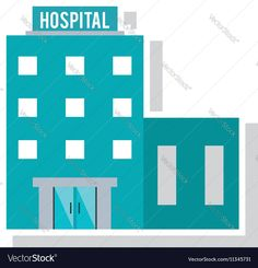 Isolated hospital building design Vector Image by jemastock