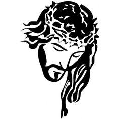 Line art style of Jesus' face