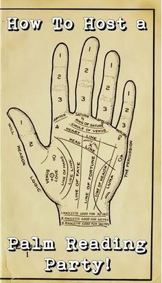 Haloween Party Ideas - Palmistry: How to Host a Palm Reading Party