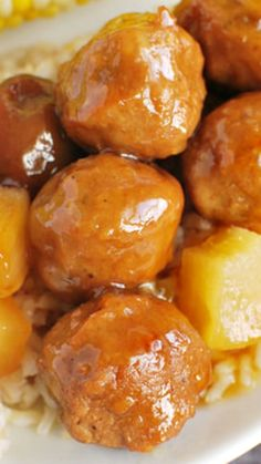 Crockpot Hawaiian Meatballs Recipe