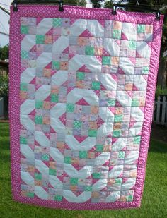 Looking for quilting project inspiration? Check out Girls Train Track by member Rainbowswt. - via @Craftsy