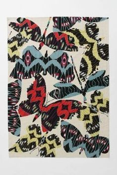 Anthropologie Wing Beat rug 5'x7'
