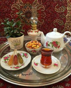 Traditional Persian afternoon tea