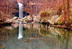 Winter view of Cedar Falls -- Petit Jean State Park, Arkansas (pinned by haw-creek.com)
