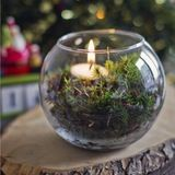Moss Candle Holder