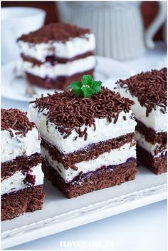 Porzeczkowiec - I Love Bake Sweets Cake, Sugar Rush, Puddings, Yummy Yummy, Dessert Recipes, Food And Drink, Foods, Cakes, Baking