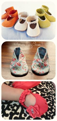 60 DIY baby shower gift ideas, including patterns for these adorable shoes