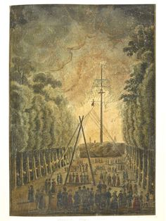 Madam Saqui Descending: Mme Saqui ascended and descended a tightrope fixed to a mast, accompanied by fireworks. The Pleasure Garden, Historical Romance Novels, Local Parks, Green Park, Famous Places, Travel Posters, 18th Century, Fireworks, London