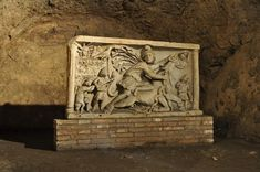 Incredible- an ancient worship center for the mysterious cult of Mithras boasts this remarkably preserved 2nd century frieze. Almost nothing is known about this religion that was once widespread across the Mediterranean. Discovered in 1931, you can now visit this amazing house of worship near the Circus Maximus in Rome, Italy.