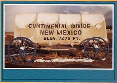 CONTINENTAL DIVIDE NEW MEXICO ROUTE 66 POSTCARD