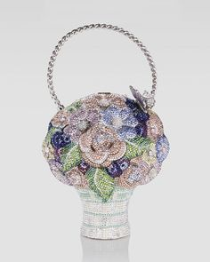 Judith Leiber Crystal Flower Basket Bag