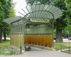 Entrance to the Porte Dauphine metro station,( Paris XVI), built by Hector Guimard.