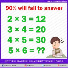 Will Fail to Answer Get more brain teaser puzzle, number puzzle, alphabet puzzle and picture puzzle on Test 4 Exams. Funny Puzzles, Hard Puzzles, Number Puzzles, Maths Puzzles, Puzzles And Answers, Brain Teasers Riddles, Brain Teasers With Answers, Brain Teasers For Kids, Brain Teaser Puzzles