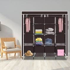 Portable Closet, Closet Storage, Portable Wardrobe, Shelves, Shoe Rack With Shelf, Wardrobe Storage, Storage Closet Organization, Clothing Rack, Storage Rack