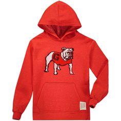 Georgia Bulldogs Original Retro Brand Youth Tri-Blend Pullover Hoodie - Red 74a4fa419
