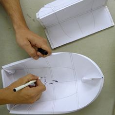 Foldboat is a rowing boat made from a standard sized sheet of plastic. By manipulating the material, we have created live hinges allowing you to fold and un-fold the plastic sheet into the shape of a boat.