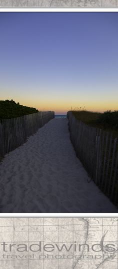 Path to Miami beach at dawn.
