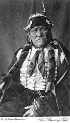 Studio portrait (sitting) of Running Bird, a Native American (Kiowa) man - Wanamaker - 1913 Native American Pictures, Indian Pictures, Native American Tribes, Native American History, Native Americans, Rocky Mountains, Eskimo, Oklahoma, Native Indian