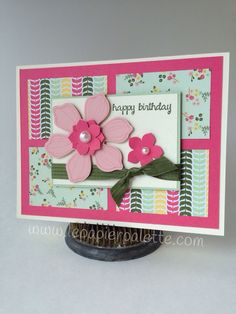 Stampin Up Beautiful Bunch, ...And Many More stamp sets, All Abloom DSP stack by #lepapierpalette