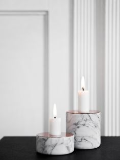Lovely marble candle holders