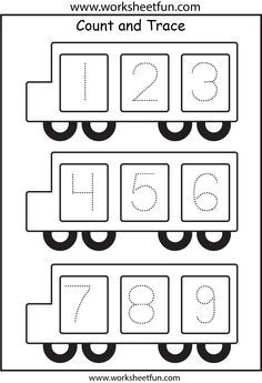 Tracing Numbers 1-5 For Easy Mathematics Project
