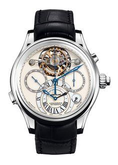 Montblanc Collection Villeret 1858 ExoTourbillon Rattrapante #watch #reloj