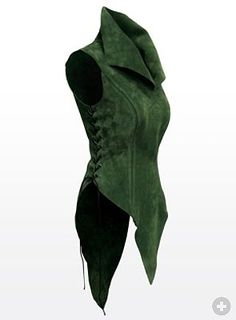 Priestess Tunic green High quality leather products from Andracor, handcrafted in Berlin