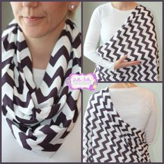 Hold Me Close Nursing Scarf - Eggplant Chevron, Nursing Cover, Infinity Scarf.  Can I make this? Or someone else for me? :)