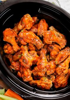 Crock Pot chicken wings eliminate the mess and oil of deep fried chicken wings while creating the perfect game day snack! TheseBuffalo wings come out perfectly tender, fall off the bone and are loaded with flavor!