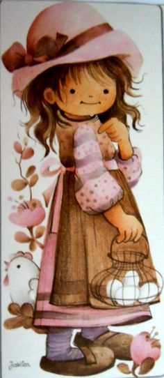 Jaklien Moerman Sarah Kay, Holly Hobbie, Beautiful Drawings, Tole Painting, Prismacolor, Karma, Coloring Pages, First Love, Diy And Crafts