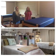 At Ole' Miss, Dorm cubbies help turn this prison cell of a dorm into an elegant spa like retreat.