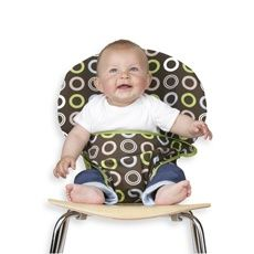 Totseat Portable Highchair in Chocolate Circles