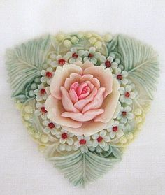 RESERVED for Lynn - Vintage Signed Celluloid Floral Brooches or Pins