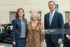 King Felipe of Spain and Queen Letizia of Spain and Princess Beatrice of Holland attend the opening of the painting exhibition 'The Bosch' at El Prado Museum on May 30, 2016 in Madrid, Spain.