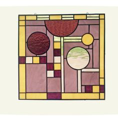 Frank+Lloyd+Wright+Windows | Frank Lloyd Wright Inspired Stained Glass Window by BazaarGlass